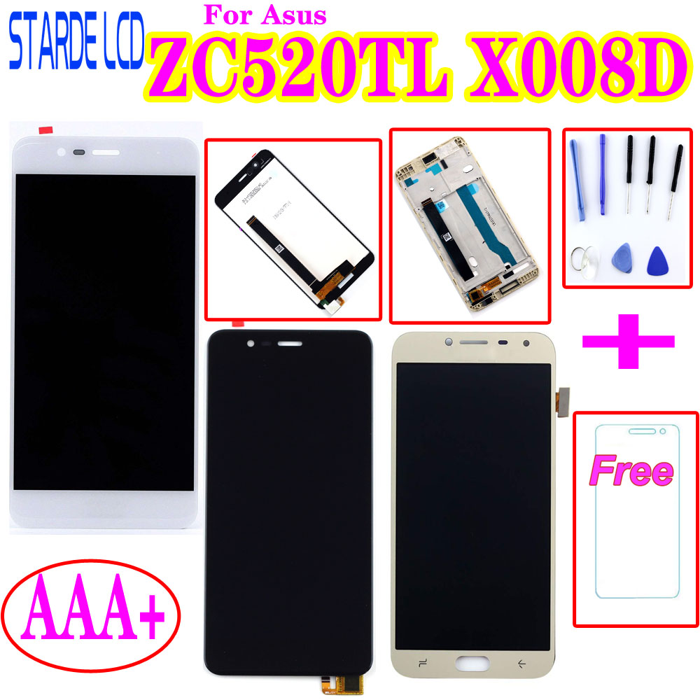 AAA+ For <font><b>Asus</b></font> <font><b>Zenfone</b></font> <font><b>3</b></font> <font><b>Max</b></font> <font><b>ZC520TL</b></font> X008D LCD Display Touch <font><b>Screen</b></font> Digitizer Assembly with Frame X00DC <font><b>Replacement</b></font> image