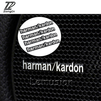 Car Stickers Audio Video Speaker For Harman Kardon For Mercedes W204 W210 AMG Benz Bmw E36 E90 E60 Fiat 500 Volvo S80 image