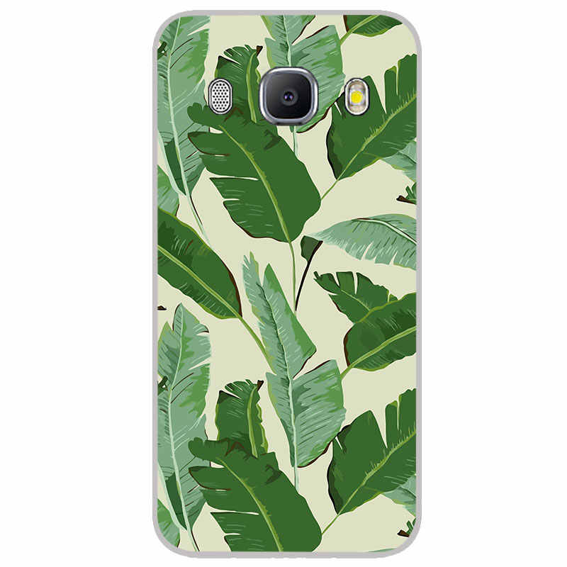 Banana leaf ซิลิโคนสำหรับ Samsung galaxy J2 J4 Core J6 Plus J7 Prime Duo Max TPU โทรศัพท์กรณีฝาครอบซิลิคอน