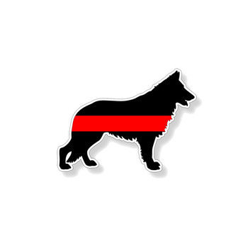 Hot Cover Scratches Car-Sticker and Decals German Shepard Fireman K9 Dog Decoration Bumper Car Body Car Accessories KK14*10cm image