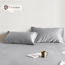 Liv-Esthete Noble Gray 100% Silk Pillowcase Nature 25 Momme Silk Multicolor Standard Pillow Case For Women Men Free Shipping