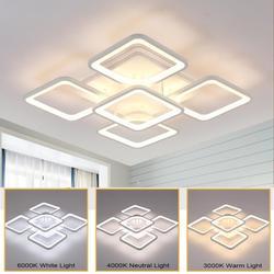 Ganeed 2020 Modern LED Rectangular Ceiling Light Indoor Lamp Interior Lighting for Living Dining Room Bedroom Kitchen Home Loft