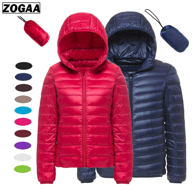 QUILTED Blouses Down-Jacket Hooded Puffer Lightweight Silk Winter Women Autumn Fashion title=