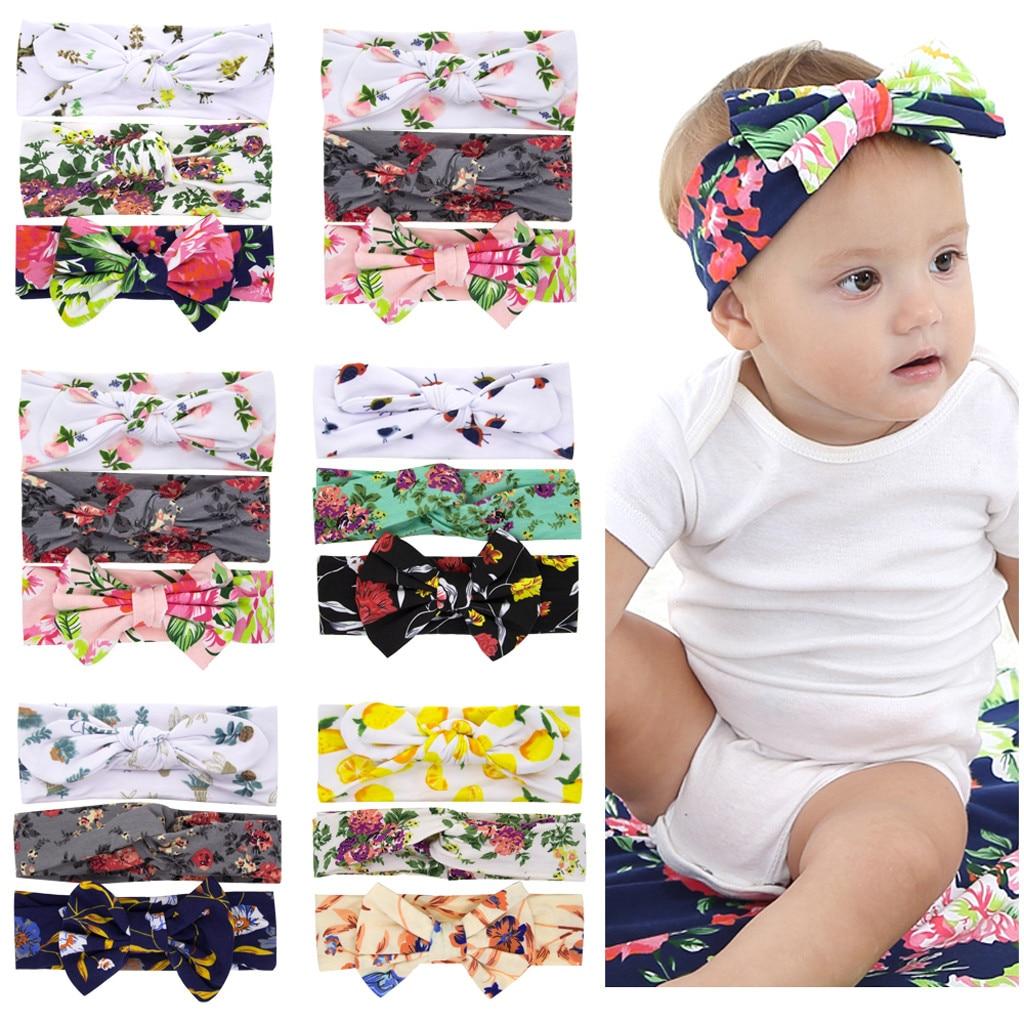Accessories Bow Girls Turban Cute Sequins Star Baby Headwear HairBand Toddler