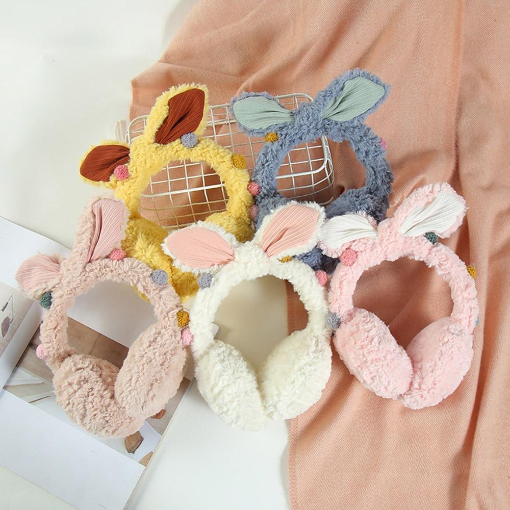 2019 New Women Cute Winter Earmuffs Warm Plush Rabbit Earmuffs Cute Winter Earmuffs Earmuffs To Keep Warm