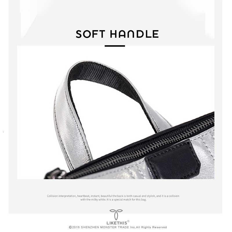 LIKETHIS Plecak na co dzień kobiety skórzana torba z kieszeniami srebrny Oxford duża Mochila Mujer De Moda 2019 Plecak Рюкзак Школьный
