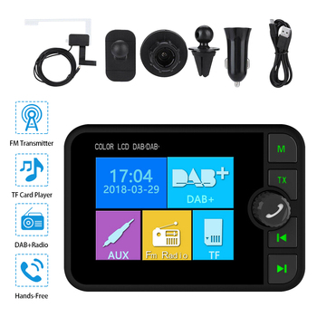 Car DAB Car Radio Adapter Tuner USB FM Transmitter AUX BT Music Receiver Bluetooth Magnetic Color Screen Digital FM Transmitter