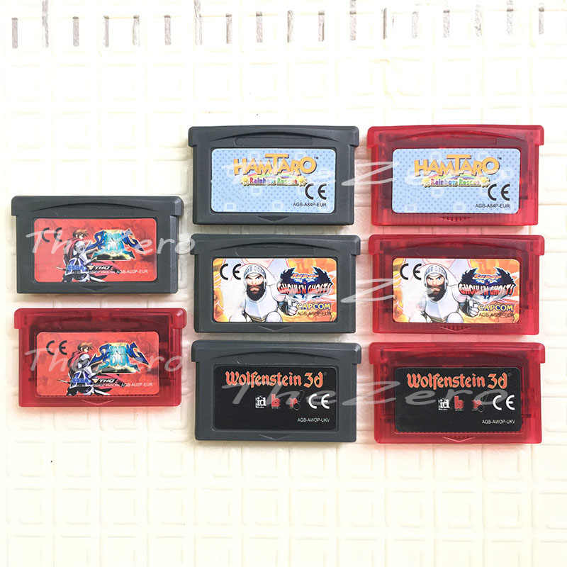 Gra wideo wkład karta konsoli świeci duszy Hamtaro Rainbow ghule N duchy Wolfenstein 3D dla 32 Bit ręczny odtwarzacz