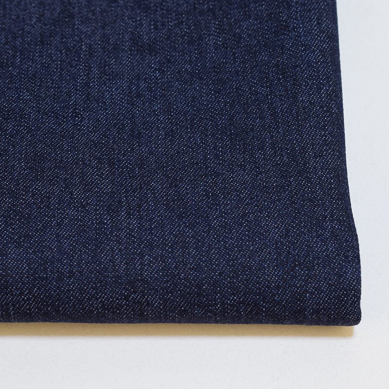 Twill woven stock denim fabric 28% polyester 70% cotton 2% elastic washed for jeans coat