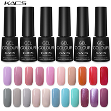 KADS 7ml LED UV Nail Gel Long Lasting Lacquer DIY Art Colorful Set Lamp Curing