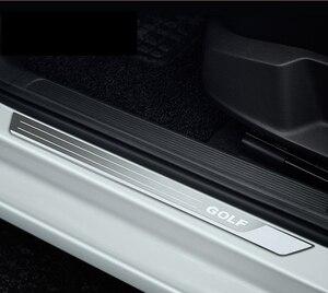 4 шт./лот из нержавеющей стали для 2010-2018 VW golf 6 golf 7 GTI, автомобильный порог, педаль, автомобильные аксессуары