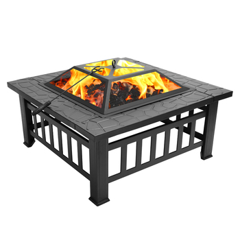 Portable Courtyard Fire Bowl Pit & Accessories