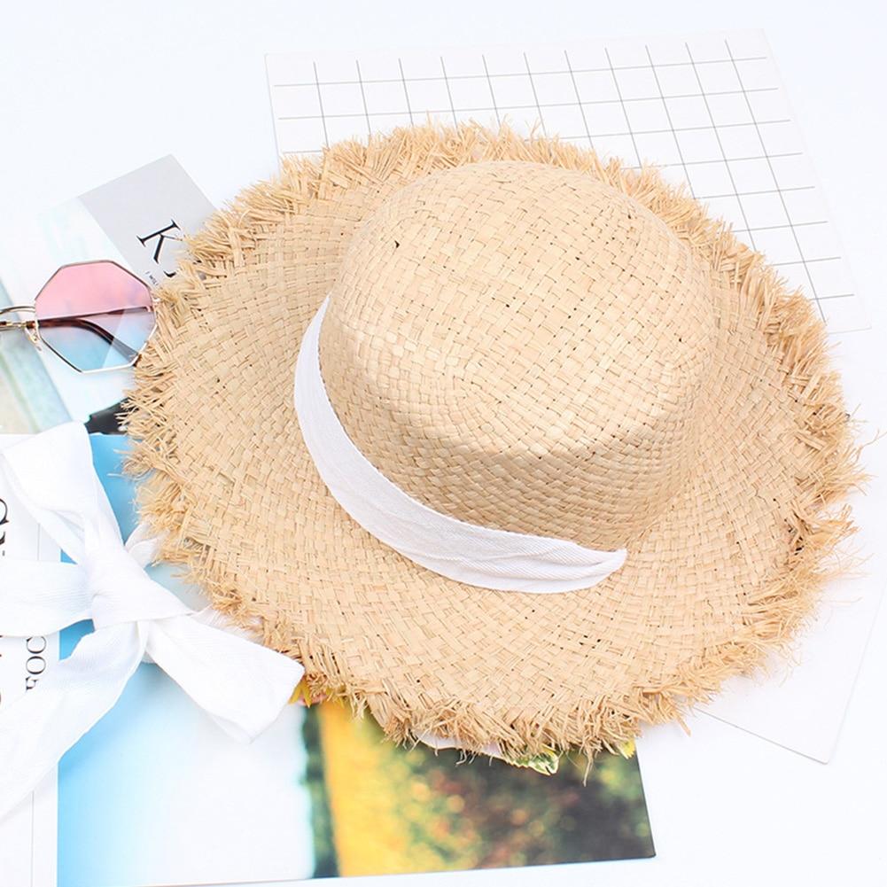 Straw Travel Sun Hats Outdoor Leisure Practical Handmade Weave Foldable Gift Cap Fashion Sunshade Beach Raffia