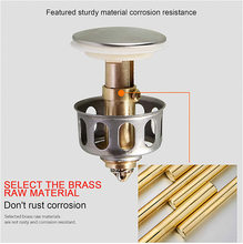 35mm stainless steel wash basin bounce drain filter 2 in 1 shower floor sink drain sink wash basin bathtub bathroom accessories