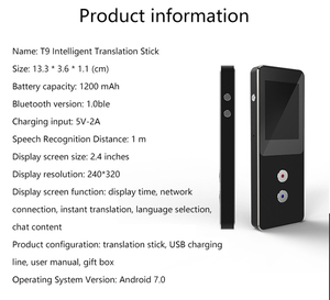 Image 5 - T9 + çevrimdışı taşınabilir akıllı ses çevirici çok dilli anında çevirmen iş seyahat arası çeviri makinesi