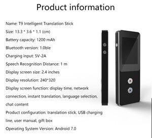 Image 5 - T9 + حاليا المحمولة الذكية صوت مترجم متعدد اللغات الفورية مترجم الأعمال السفر بين الترجمة آلة