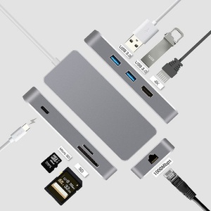 Image 1 - Док станция Thunderbolt 3 стандарта USB Type c на HDMI, Ethernet, RJ45, USB 3,0