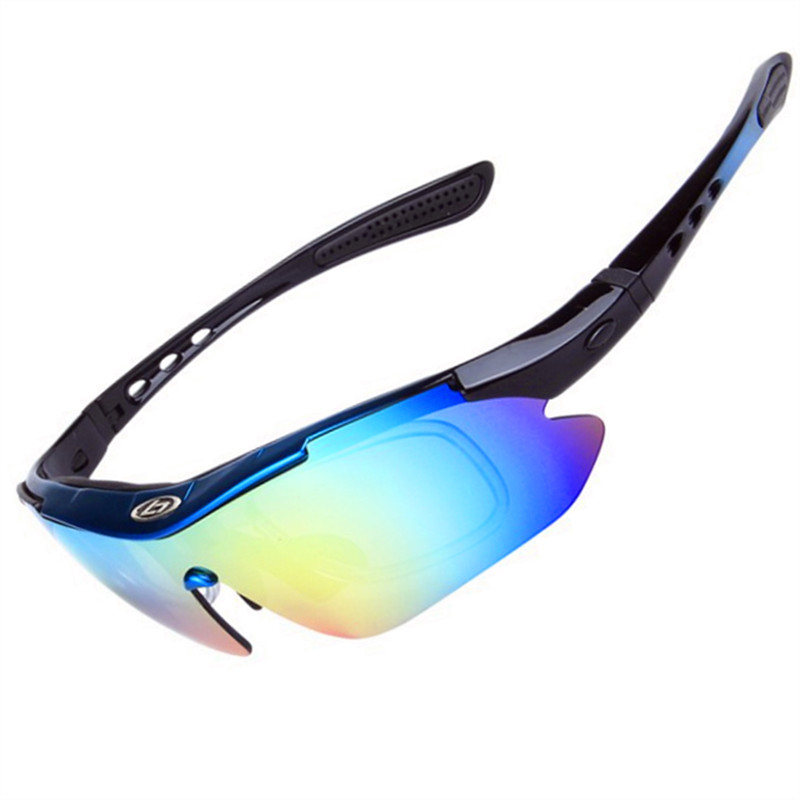 Polarized Cycling Sunglasses Outdoor Sports UV400 Cycling Eyewear Bicycle Sunglasses Gafas ciclismo <font><b>Bike</b></font> Goggles <font><b>Glasses</b></font> <font><b>5</b></font> <font><b>Lens</b></font> image