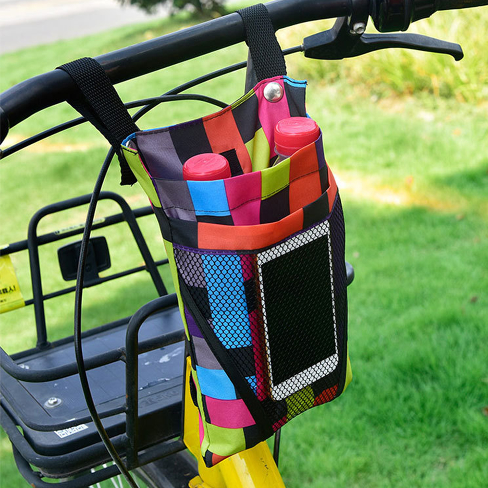 Outdoor Riding Front Frame Large Capacity Bike Bicycle Oxford Cloth Bag 26x18cm