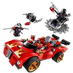 Image 1 - 452 шт. Kai Зарядное устройство активировать перехватчик автомобиля храм BlocksMaster строительные блоки 70727 игрушки совместимая с ninjagoes