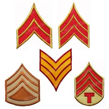 Master Sergeant Shoulder Rank Patch armband formal dress patch U.S. army stripe Chevron Sergeant iron on badge hook patch emblem