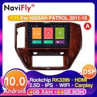 Autorradio Multimedia con GPS para coche, Radio con reproductor de vídeo, Android, IPS, DSP, 4G LTE, control por voz, carplay, para NISSAN PATROL 2011, 2012, 2013, 2014, 2015