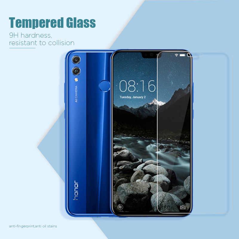 واقي شاشة زجاجي لهاتف Honor 9C 8C 7C 6C 5C 4C Pro واقي شاشة زجاجي لهاتف Huawei Honor 9S 8S 7S فيلم 9H HD