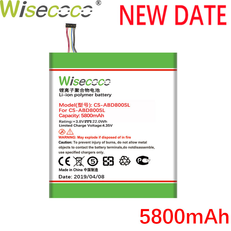 Wisecoco 5800mAh Kindle Feuer HD 8 6th Gen für <font><b>amazon</b></font> Pr53dc Mc-28ab8 58-000161Latest Produktion Hohe Qualität Batterie + Track <font><b>code</b></font> image