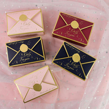 10pcs Creative Envelope Shape Candy Box Wedding Birthday Gift Package Supplies Paper Food Cookie Boxes Party Decoration