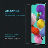 삼성 갤럭시 a51 a71 강화 유리 스크린 프로텍터 nillkin 놀라운 h 나노 코팅 방폭 보호 필름