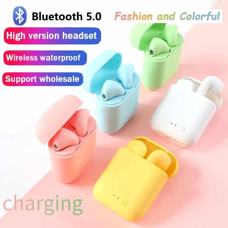 Беспроводные наушники Mini-2 TWS, Bluetooth-наушники, спортивные стереонаушники-вкладыши, гарнитура с зарядным боксом для всех телефонов PK i9s i7s