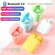 Mini-2 tws fones de ouvido sem fio bluetooth fone de ouvido esporte estéreo fone de ouvido com caixa de carregamento para todo o telefone pk i9s i7s