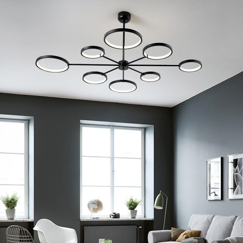 Matte Black White Modern Led Pendant Lights For Living Room Dining Room Nordic Pendant Lamp Hanging Lights Lampara Colgante Pendant Lights Aliexpress