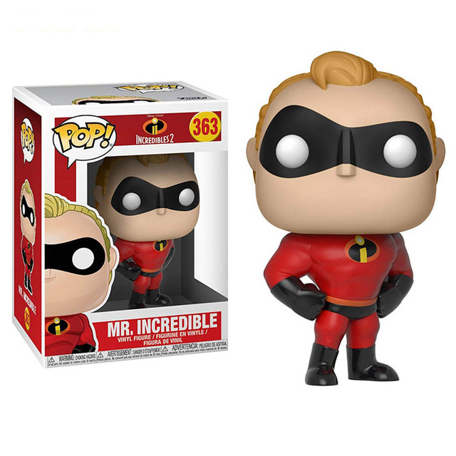 FUNKO POP Disney Movie The Incredibles 2 ElastiGirl Mr.Incredible Action Figure Toys Vinyl Decoration Model Doll for Kid Gift 6