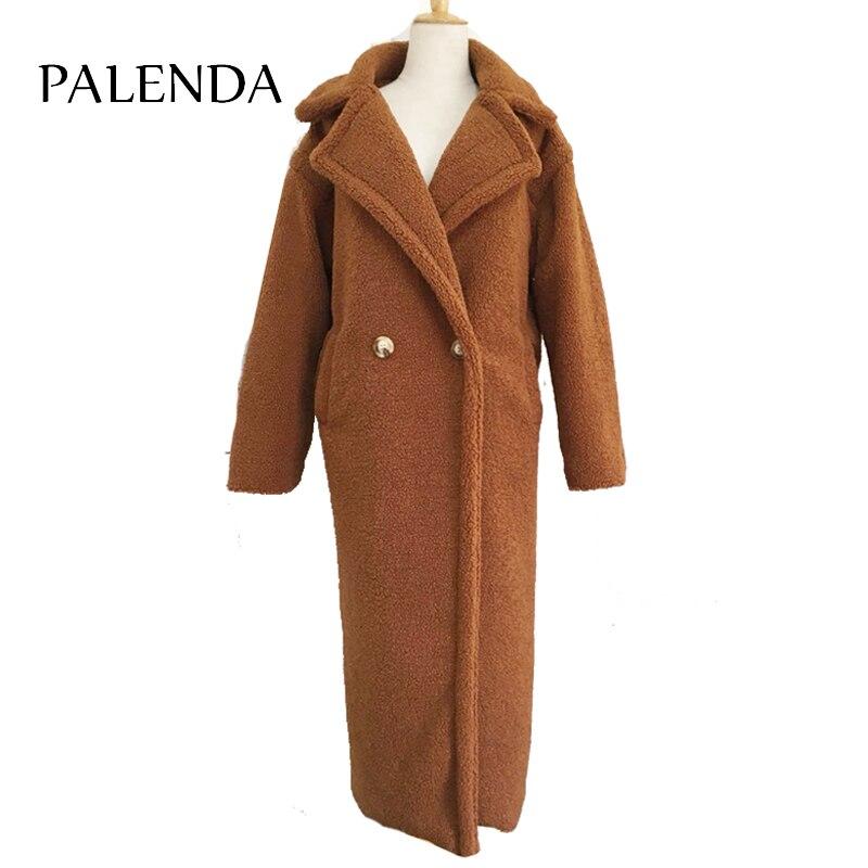 120cm Extra Longer Length Teddy Curl X-long Maxi Faux Fur Coat  Thick Warm Brown
