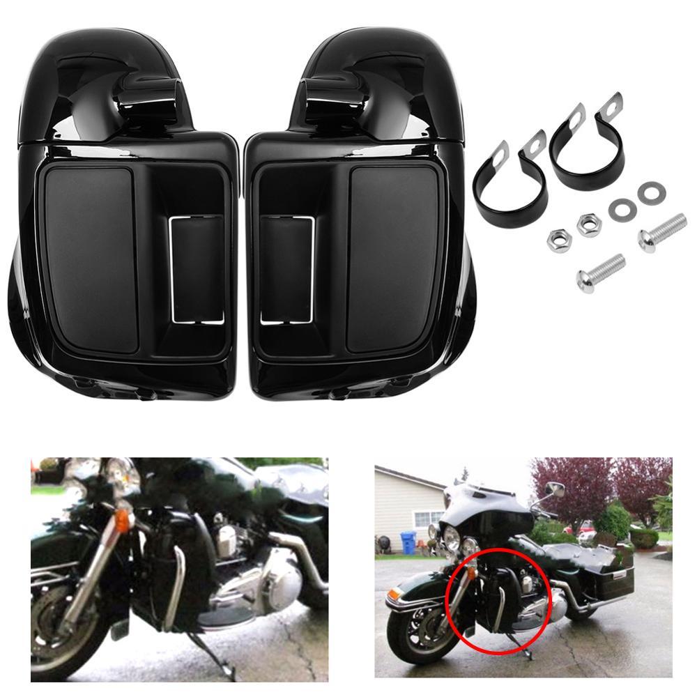 Яркий черный чехол для перчаток с вентиляционными отверстиями для Harley Touring Road King Street Electra Glide Ultra FLTR 2014-2020 19