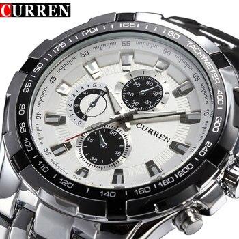 Top marka luksusowe zegarki ze stali mężczyźni sport Business Casual zegarki kwarcowe zegarek wojskowy wodoodporny Relogio sprzedaż