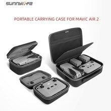 Sunnylife נייד Mavic אוויר 2 תיק נשיאה כתף תיק Drone תיק מרחוק בקר אחסון תיק עבור Mavic אוויר 2