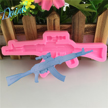 Doinb Machine gun shape silicone soft candy mold cake decorating tool candy chocolate Soft Candy Mold цена и фото