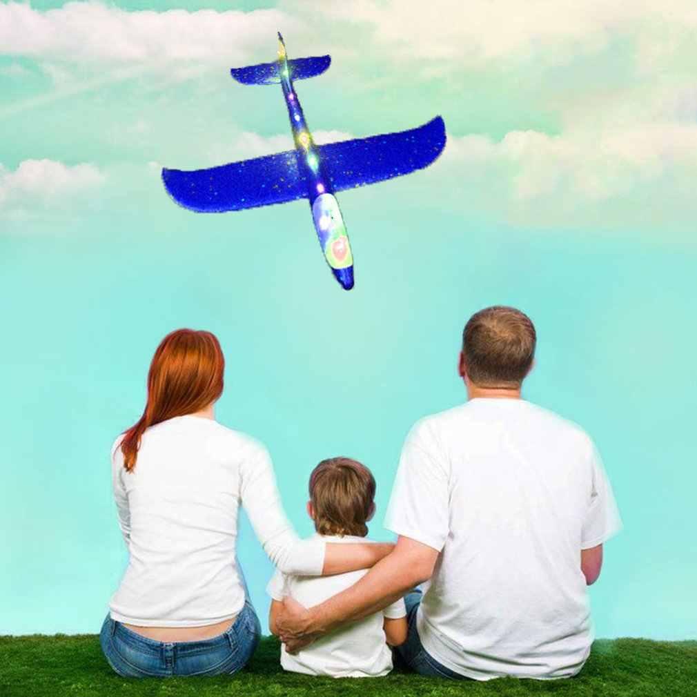 48 سنتيمتر اليد الكبيرة رمي طائرة تحلق رغوة طائرة شراعية الجمود الطائرات لعبة اليد إطلاق طائرة صغيرة في الهواء الطلق لعب للأطفال