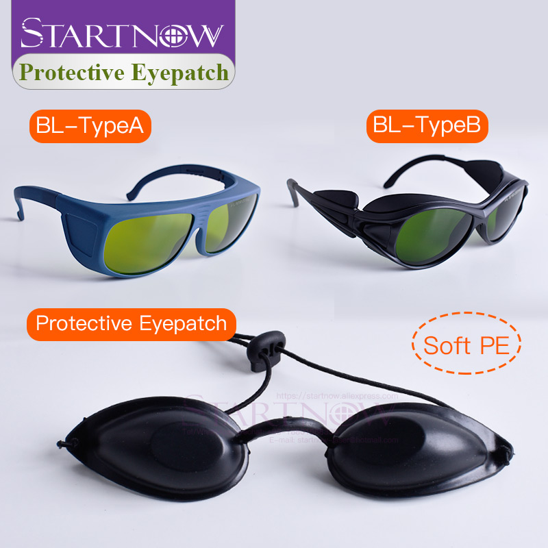 OPT E-light Black Eyepatch 190nm-2000nm Laser Protective Glasses IPL Laser Safety Goggles For Cosmetology Medical Beauty Clinic