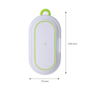 Image 2 - 10W מהיר טעינה אלחוטי מטען + 5000mAh כוח בנק + לילה אור + נייד טלפון מחזיק עבור iPhone xiaomi טלפון מטען