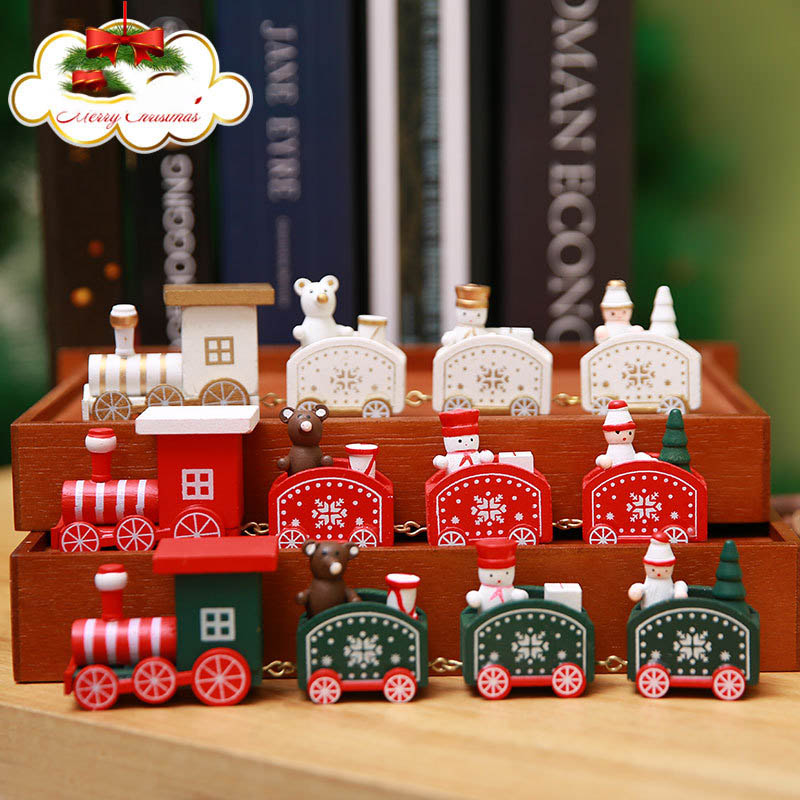 Mini Car Toys Little Train Popular Wooden Train Action Figure Vehicle Toys Car  Christmas Valentine's Day Gift New Year Supplies