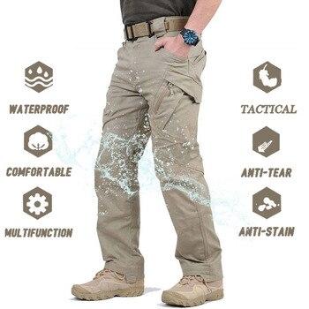 Military Tactical Pants Men Multi-pocket SWAT Combat Army Trousers Male IX9 Waterproof Wear Resistant Cargo Joggers Big Size 5XL