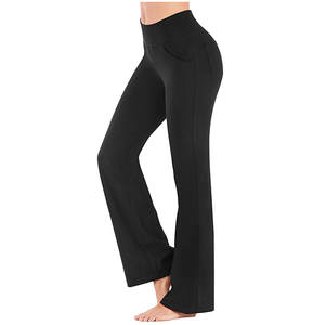 Pocket Leggings Pant Athletic-Pants Skinny Fitness Sports Women Workout-Out Gym Polyester
