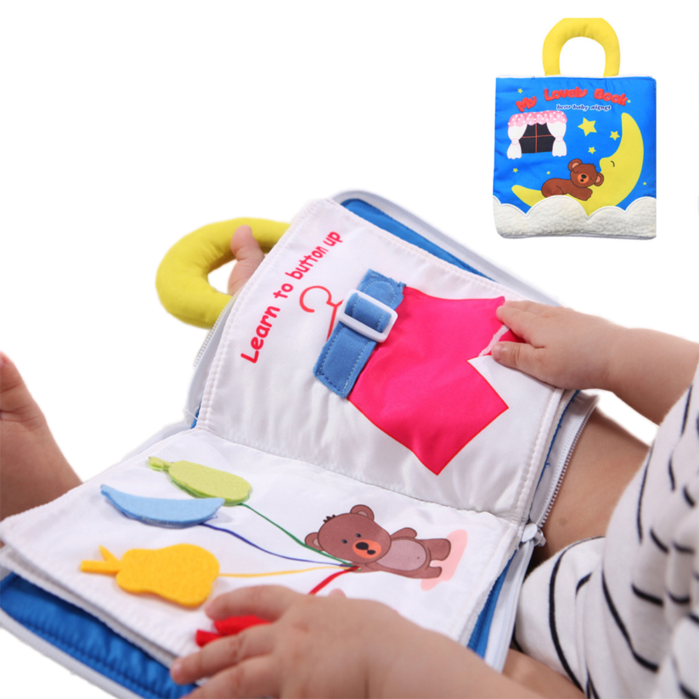 Baby Cloth Book Practice Hand Early Learning Educational Sound Books Soft Cute Washable Unfolding Parent-Child Interaction Book
