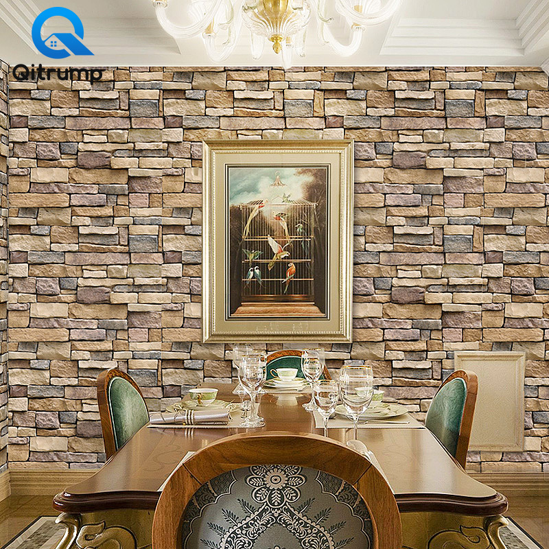 PVC Vintage Brick Stone Rustic Waterproof Wallpaper Peel and Stick For Living Room Bedroom Wall Decor Self Adhesive Wall Sticker Home, Pets and Appliances cb5feb1b7314637725a2e7: Brick Wallpaper