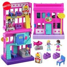 Original polly pocket mini polly bonito loja caixa meninas brinquedos de carro crianças educação brinquedo do bebê presente da menina boneca acessórios juguetes