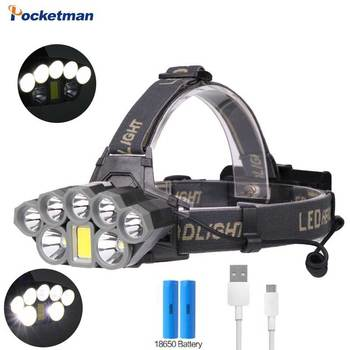 6000 Lumens Portable Flashlight XML COB LED Headlight 18650 Battery USB Rechargeable Headlamp Brighter Torch sitemap 275 xml