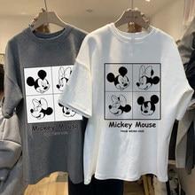 Camiseta de Disney de Mickey Mouse para mujer, top de manga corta, ropa para hombre y mujer